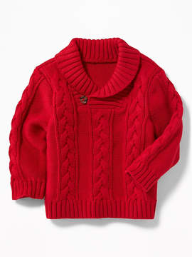 Old Navy Shawl-Collar Cable-Knit Sweater for Baby