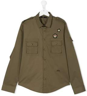 No.21 Kids badge patch shirt