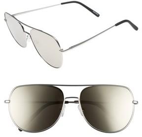 Quay Men's Living Large 61Mm Aviator Sunglasses - Z/dnu Gun/ Blue