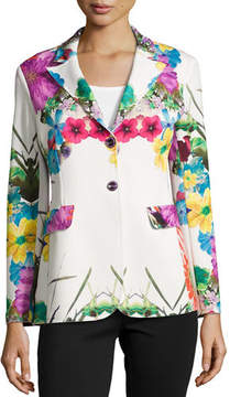 Berek Flower Pop Two-Button Jacket, Petite