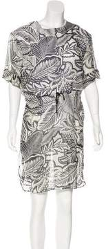 Barneys New York Barney's New York Printed Silk Dress w/ Tags