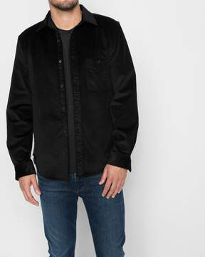 7 For All Mankind Long Sleeve Micro Cord Shirt in Black