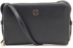 Tory Burch Parker Zip Saffiano-leather Crossbody Bag - NERO - STYLE
