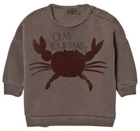Bobo Choses Grey Crab Your Hands Sweatshirt