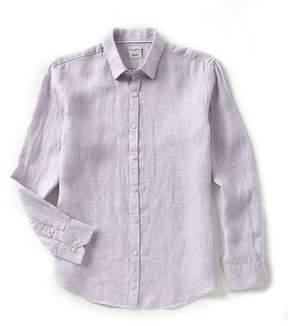 Murano Solid Linen Long-Sleeve Woven Shirt