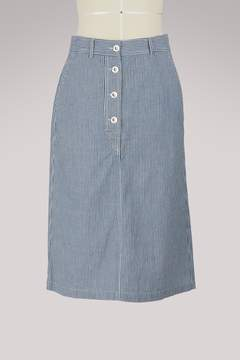 A.P.C. Love striped cotton skirt