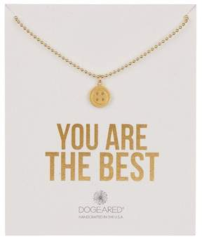Dogeared 14K Gold Vermeil You Are the Best Button Necklace