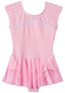 Jacques Moret Girls 4-16 Pink Rhinestone Skirtall