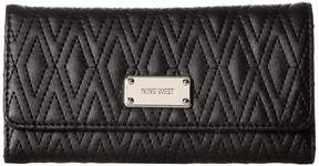 Nine West Dotted Shapes Check Sec Checkbook Wallet