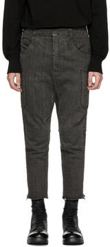 The Viridi-anne Grey Tapered Cargo Pants