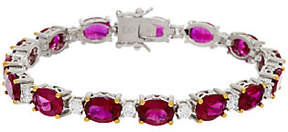 Elizabeth Taylor The 12.0cttw Perfect Love Simulated Ruby Tennis Bracelet