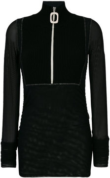 Aviu zip turtleneck top
