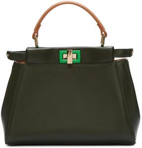 Fendi Grey and Tan Mini Peekaboo Bag