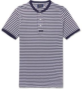 Polo Ralph Lauren Striped Cotton-Jersey Henley T-Shirt