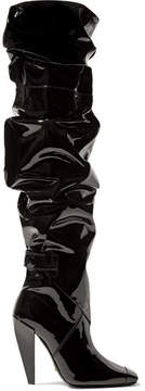 Tom Ford Patent Leather Knee Boots - Black