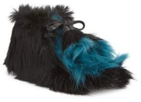 Prada Cavallino Furry Desert Booties