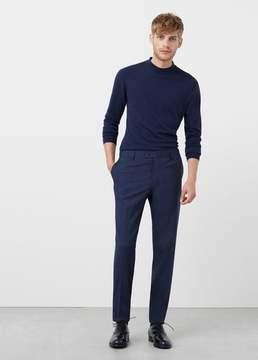 Mango Outlet Slim-fit patterned suit trousers