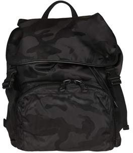 Valentino Men's Black Leather Backpack.