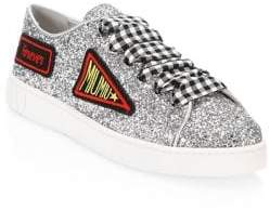 Miu Miu Glitter Patch Sneakers