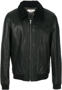 Closed detachable collar full zip jacket