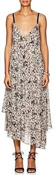 Cédric Charlier Women's Abstract-Print Chiffon Slip Dress