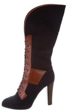 Reed Krakoff Cap-Toe Mid-Calf Boots