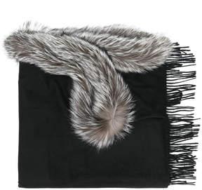 N.Peal long trimmed shawl