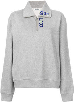 Courreges zipped logo sweatshirt