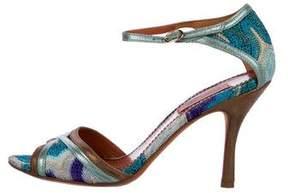Missoni Metallic Knit Sandals