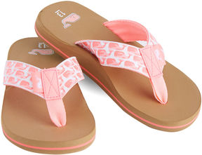 Vineyard Vines Girls Water Color Whales Flip Flops
