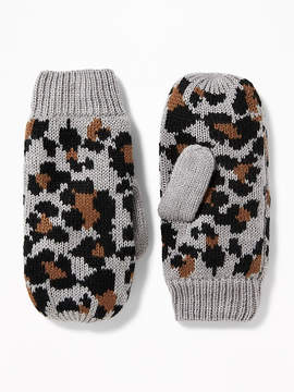 Old Navy Patterned Sweater-Knit Mittens for Women