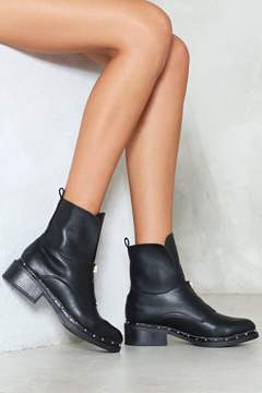 Nasty Gal After You Vegan Leather Boot