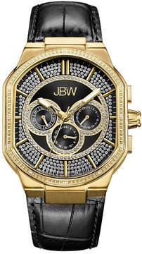 JBW Orion 18k Gold-Plated 0.12 C.T.W Diamond Mens Black Strap Watch-J6342e