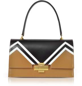 N°21 N.21 N21 Color Block Leather Alice Satchel Bag