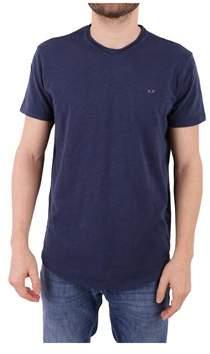 Sun 68 Men's Blue Cotton T-shirt.