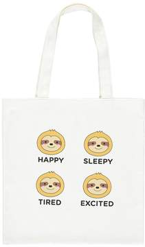 Forever 21 Sloth Graphic Tote