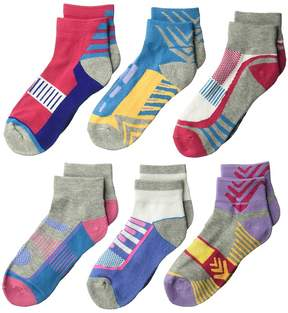 Jefferies Socks Tech Sport Quarter 6-Pack Girls Shoes