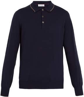 Brunello Cucinelli Long-sleeved cotton-piqué polo shirt