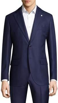 Lubiam Men's Notch Lapel Wool Sportcoat