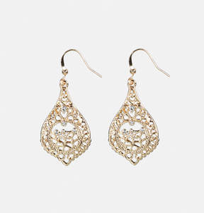 Avenue Medallion Filigree Drop Earrings