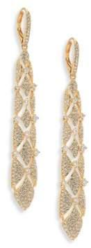 Adriana Orsini Naga Long Pave Drop Earrings