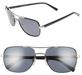 Ted Baker Men's 59Mm Polarized Navigator Sunglasses - Black