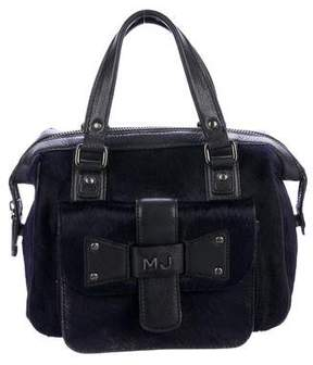 Marc Jacobs Leather-Trimmed Ponyhair Handle Bag