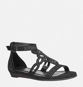 Avenue Eva Embellished T-Strap Gladiator Sandal