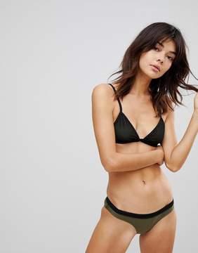 Brave Soul Mesh Insert Bikini Set With Contrast Banding