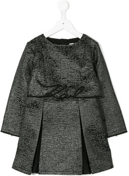 Karl Lagerfeld pleated dress with 'karl' embroidery