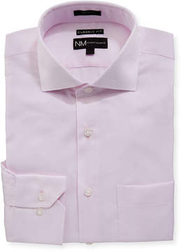 Neiman Marcus Classic-Fit Regular Finish Dobby-Texture Dress Shirt
