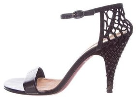 Nina Ricci Leather Ankle Strap Sandals