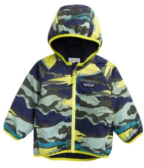 Patagonia Infant Boy's Puff-Ball Water-Resistant Thermogreen(TM) Insulated Reversible Jacket