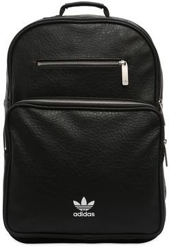 Ac F Bp Classic Faux Leather Backpack